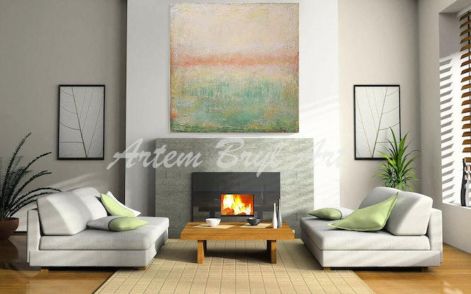 (CreativeWork) Chartreuse by Artem Bryl. Acrylic Paint. Shop online at Bluethumb.