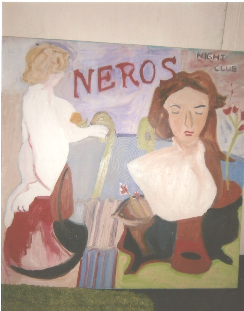(CreativeWork) NERO'S NIGHT CLUB, KILKENNY, EIRE by Marie-Thérèse KINSELLA. oil-painting. Shop online at Bluethumb.