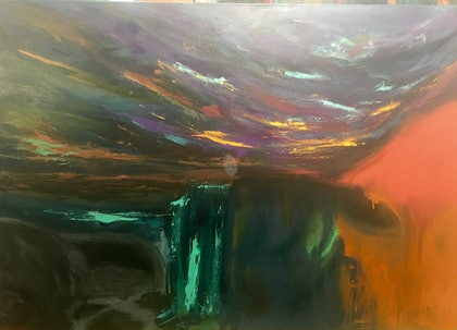 (CreativeWork) Kimberley Sky by Lisa Anderson. arcylic-painting. Shop online at Bluethumb.
