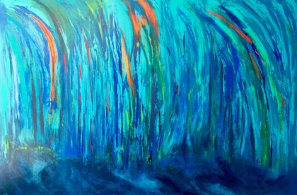 (CreativeWork) Water's Edge by Lisa Anderson. mixed-media. Shop online at Bluethumb.