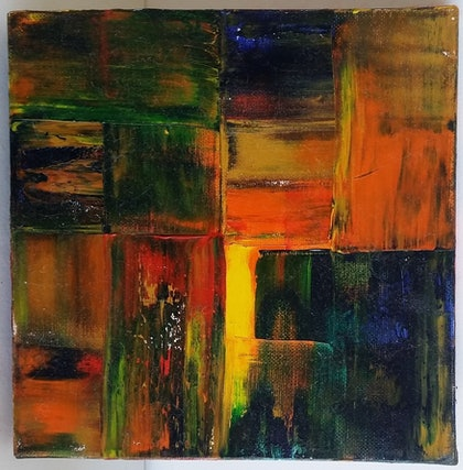 (CreativeWork) Patchwork by Feng Guo. oil-painting. Shop online at Bluethumb.