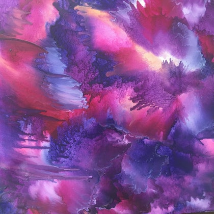 (CreativeWork) Purple vibes by Erica Ruby. other-media. Shop online at Bluethumb.
