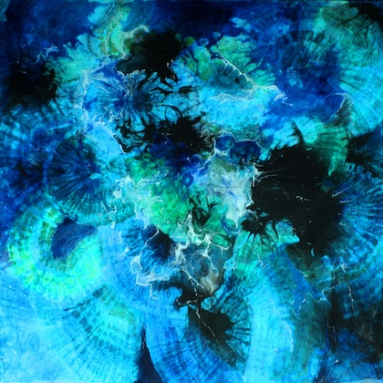 (CreativeWork) MEDITATION BLUE by MO -. arcylic-painting. Shop online at Bluethumb.