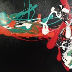 (CreativeWork) I think I'm turning Japanese 2 by Frank Martin. oil-painting. Shop online at Bluethumb.