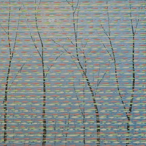 (CreativeWork) Trees in the Forest by Barry Johnson. arcylic-painting. Shop online at Bluethumb.