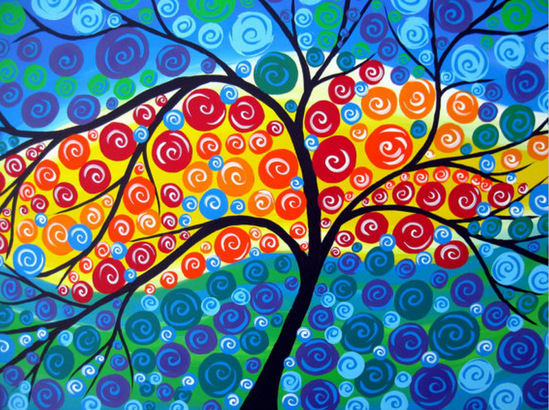 (CreativeWork) New Beginnings by Cathy Jacobs. arcylic-painting. Shop online at Bluethumb.