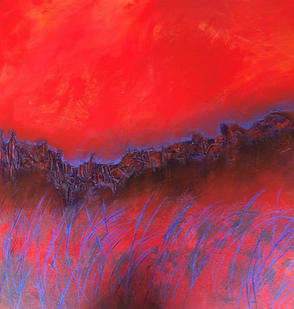 (CreativeWork) Turbulent Calm  by Quyen Hicks. mixed-media. Shop online at Bluethumb.