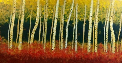 (CreativeWork) Autumn by Quyen Hicks. arcylic-painting. Shop online at Bluethumb.