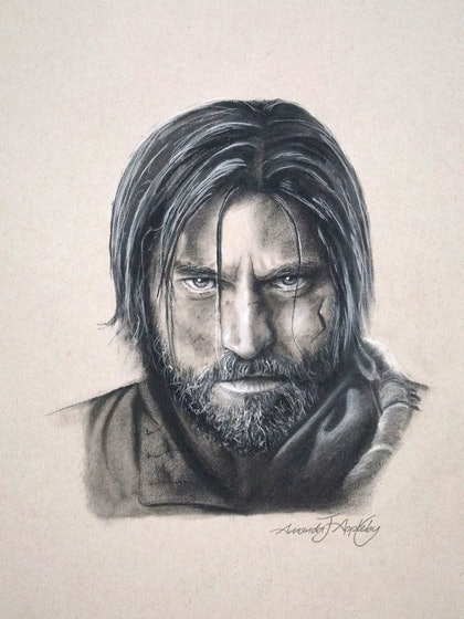 (CreativeWork) Game of Thrones Jaime Lannister by Amanda Appleby. drawing. Shop online at Bluethumb.