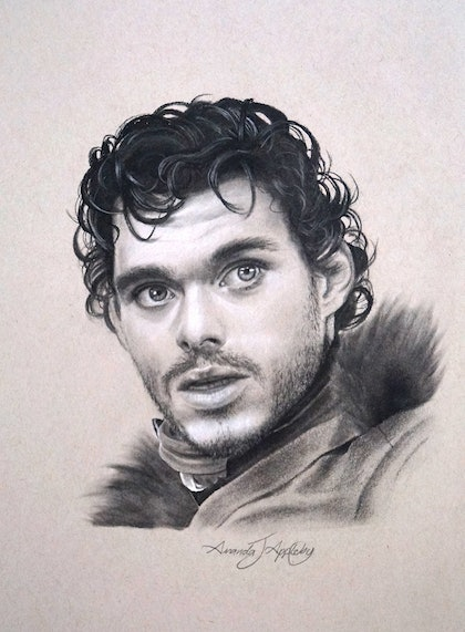 (CreativeWork) Game of Thrones Robb Stark by Amanda Appleby. drawing. Shop online at Bluethumb.