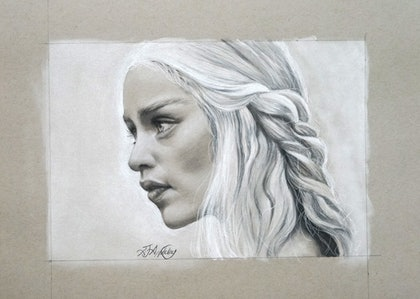 (CreativeWork) Game of Thrones Daenerys by Amanda Appleby. drawing. Shop online at Bluethumb.