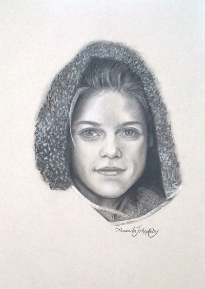 (CreativeWork) Game of Thrones Ygritte  by Amanda Appleby. drawing. Shop online at Bluethumb.