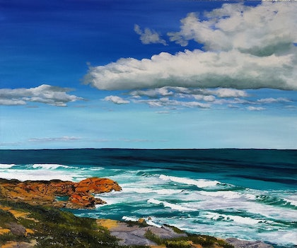 (CreativeWork) Point Nepean by M.A. Hobbs. oil-painting. Shop online at Bluethumb.