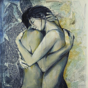 (CreativeWork) Love's Energy by Sara Riches. arcylic-painting. Shop online at Bluethumb.