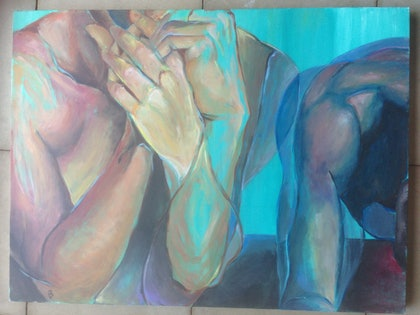 (CreativeWork) Fading by Bronte Jurgens. arcylic-painting. Shop online at Bluethumb.