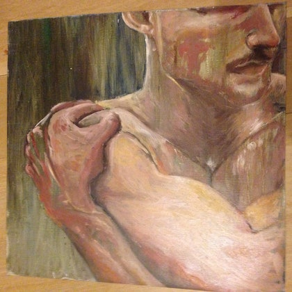 (CreativeWork) Waiting series no. 1 by Bronte Jurgens. oil-painting. Shop online at Bluethumb.