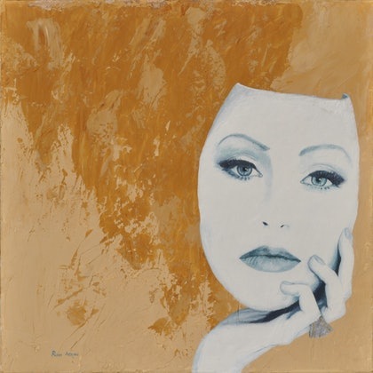 (CreativeWork) Persona by Ross Atkins. arcylic-painting. Shop online at Bluethumb.