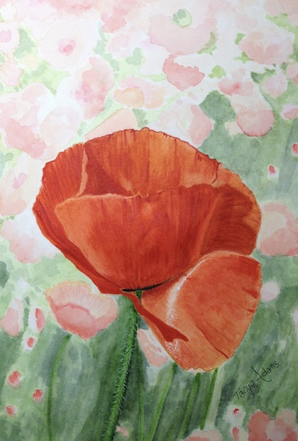 (CreativeWork) Field of Memories by Tanya Adams. watercolour. Shop online at Bluethumb.