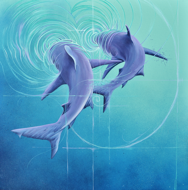 (CreativeWork) Ethereal Duo by Dino Halcrow. arcylic-painting. Shop online at Bluethumb.