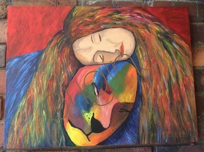 (CreativeWork) Rest by Héleen Verster. arcylic-painting. Shop online at Bluethumb.