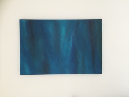 (CreativeWork) Agate by Ceri Foster. arcylic-painting. Shop online at Bluethumb.