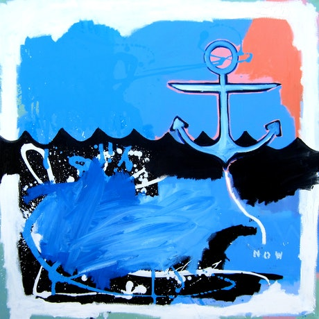 (CreativeWork) Anchored (now) by Cameron Holmes. Mixed Media. Shop online at Bluethumb.