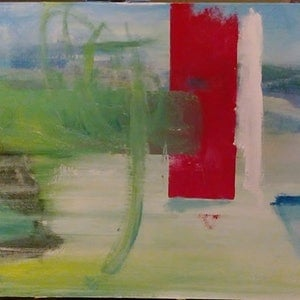 (CreativeWork) untitled landscape by Matthew Simmons. arcylic-painting. Shop online at Bluethumb.