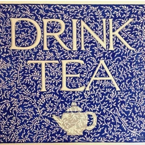 (CreativeWork) Drink Tea by Donna Huntriss. drawing. Shop online at Bluethumb.