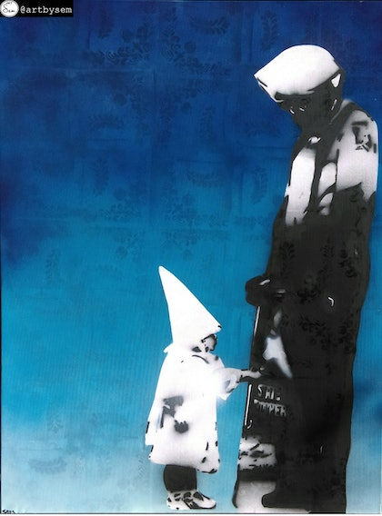 (CreativeWork) No one is born racist by Sem -. oil-painting. Shop online at Bluethumb.