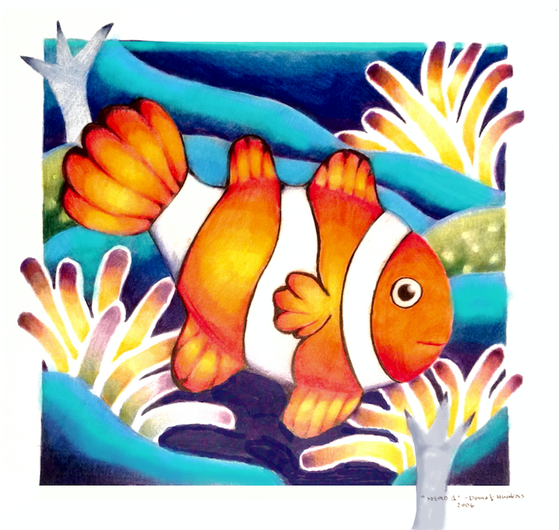 (CreativeWork) Nemo No.1  2006  original drawing by Donna Huntriss. drawing. Shop online at Bluethumb.