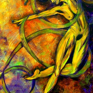 (CreativeWork) Leap of Faith by Ciska McCormack. arcylic-painting. Shop online at Bluethumb.