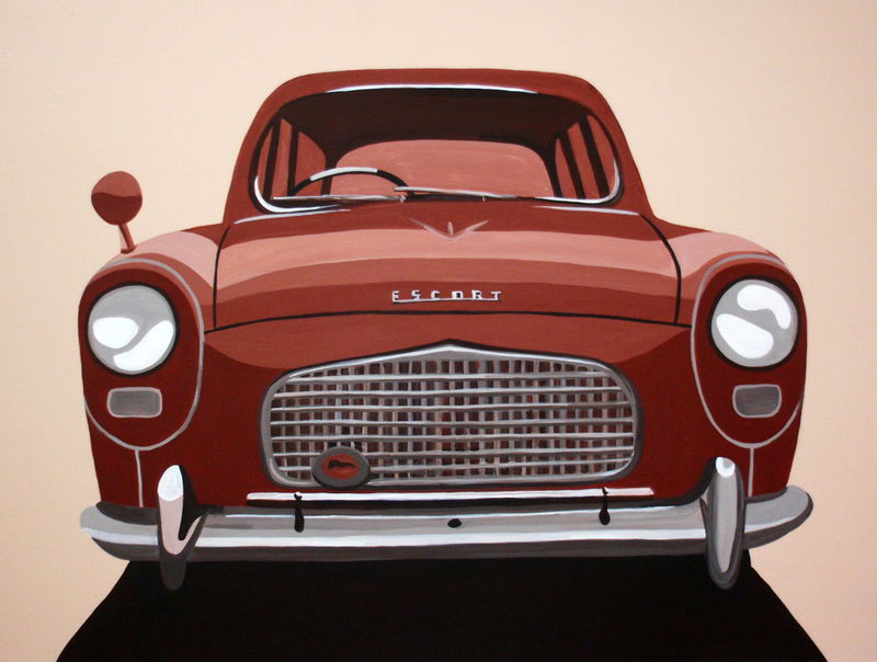 (CreativeWork) Car Feature Series (No.2) by Megan McDonald. acrylic-painting. Shop online at Bluethumb.