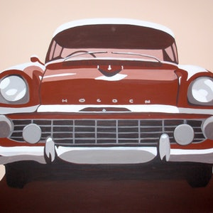 (CreativeWork) Car Feature Series (No.3) by Megan McDonald. acrylic-painting. Shop online at Bluethumb.