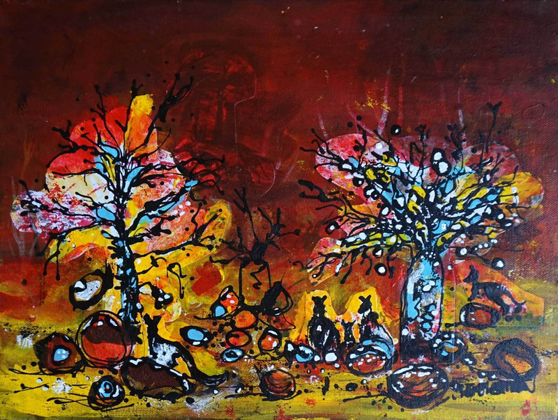 (CreativeWork) Camouflage by Wendy Eriksson. mixed-media. Shop online at Bluethumb.