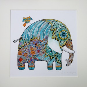 (CreativeWork) Crazyphant by Annica Malmkvist Art Body Soul. other-media. Shop online at Bluethumb.