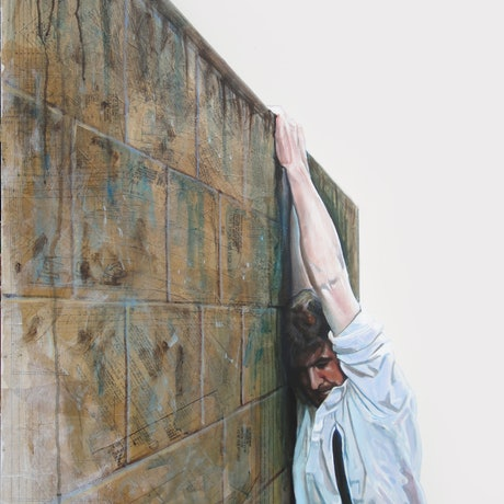 (CreativeWork) The Wall by Ross Morgan. Acrylic Paint. Shop online at Bluethumb.