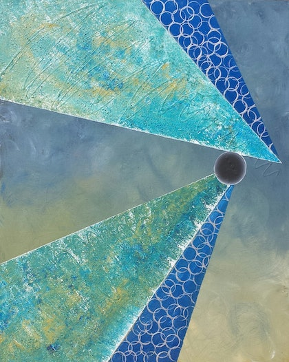 (CreativeWork) Sky High by Beth Arnold. arcylic-painting. Shop online at Bluethumb.