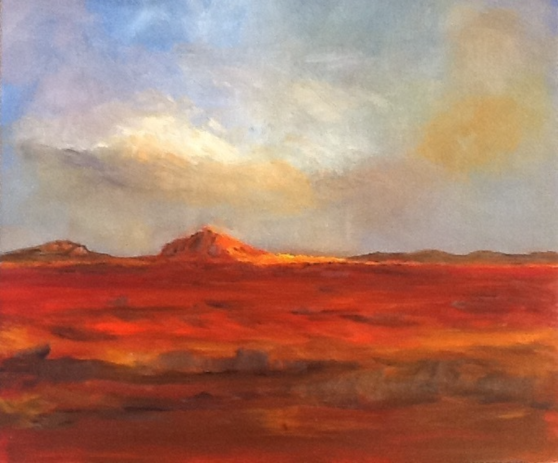 "(CreativeWork) ""Sunkissed Earth"" by June Orr. oil-painting. Shop online at Bluethumb."