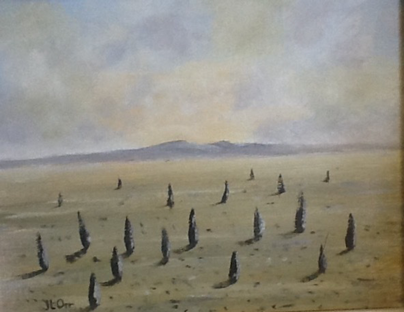 """(CreativeWork) """"Abandoned Sentinels"""" by June Orr. oil-painting. Shop online at Bluethumb."""