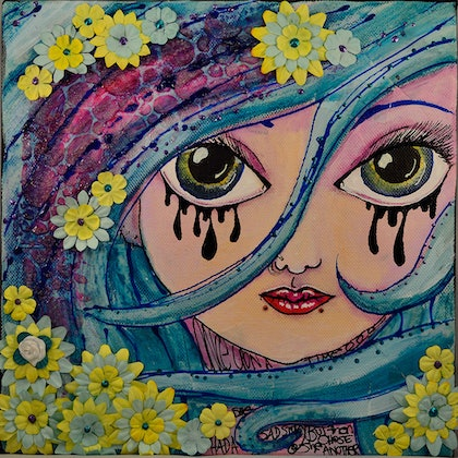 (CreativeWork) Another Story by Samm Starrs. mixed-media. Shop online at Bluethumb.