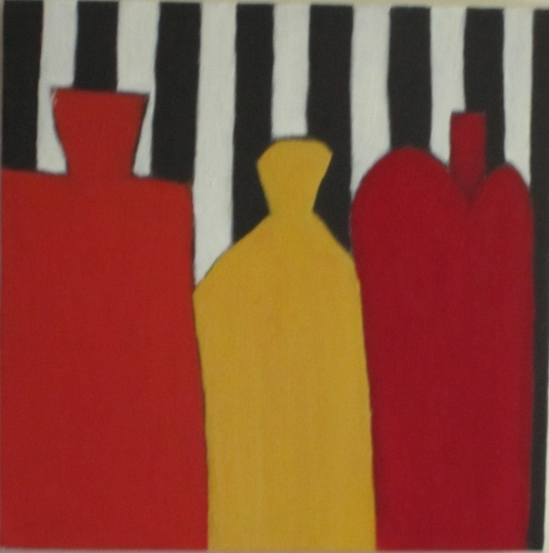 (CreativeWork) Stripes by Julie Gough. arcylic-painting. Shop online at Bluethumb.