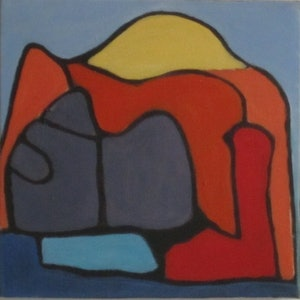 (CreativeWork) Abstract Mountain Man by Julie Gough. . Shop online at Bluethumb.