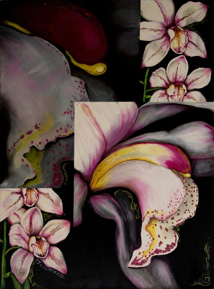 (CreativeWork) The Bride by Jodie Groenveld. oil-painting. Shop online at Bluethumb.