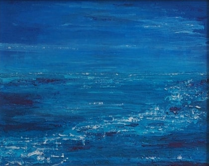 (CreativeWork) Sea sparkle by Barbara Vonk. mixed-media. Shop online at Bluethumb.