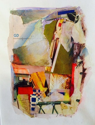 (CreativeWork) Roma 2 by Judy Silver. Mixed Media. Shop online at Bluethumb.