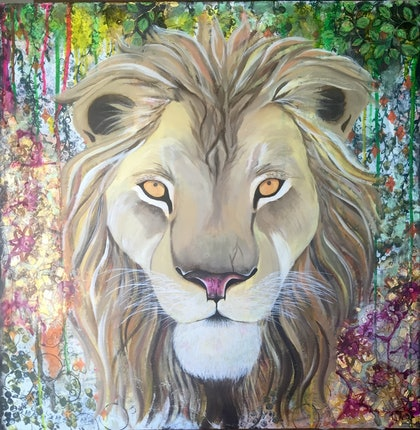 (CreativeWork) Courage by Melanie Hughes. mixed-media. Shop online at Bluethumb.