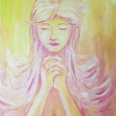 (CreativeWork) Can you hear my prayer? by Aaron Lai. oil-painting. Shop online at Bluethumb.