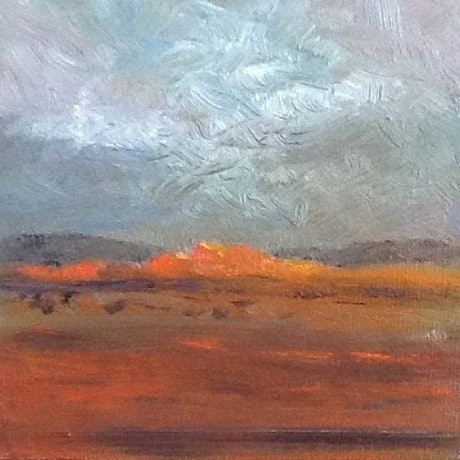 (CreativeWork) Red Centre by June Orr. Oil Paint. Shop online at Bluethumb.