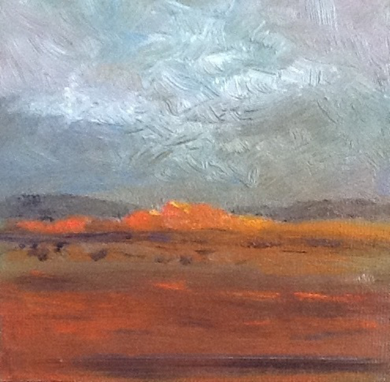 (CreativeWork) Red Centre by June Orr. oil-painting. Shop online at Bluethumb.