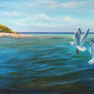(CreativeWork) On the reef  - Lady Musgrave Island, QLD by Christopher Vidal. arcylic-painting. Shop online at Bluethumb.
